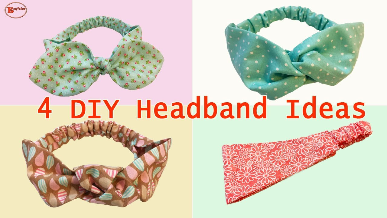 DIY HEADBAND IDEAS | HOW TO MAKE HEADBAND | HEADBAND TUTORIAL | EASY TO SEW PROJECTS
