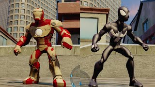Disney Infinity 2.0 - Spider-Man Vs Iron Man (Vs. Mode: Waterfront) - Level 20 Characters