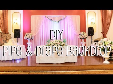 DIY Pipe Drape Backdrop In 4 Easy Steps