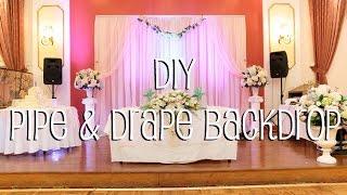 DIY Pipe & Drape Backdrop in 4 Easy Steps