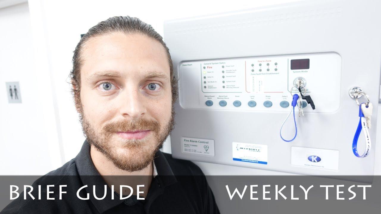 medium resolution of fire alarm weekly test kentec quick guide