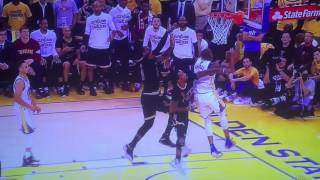 LeBron James Gets Blocked Twice in One Play | Cavaliers vs Warriors | Game 2 | 2015 NBA Finals
