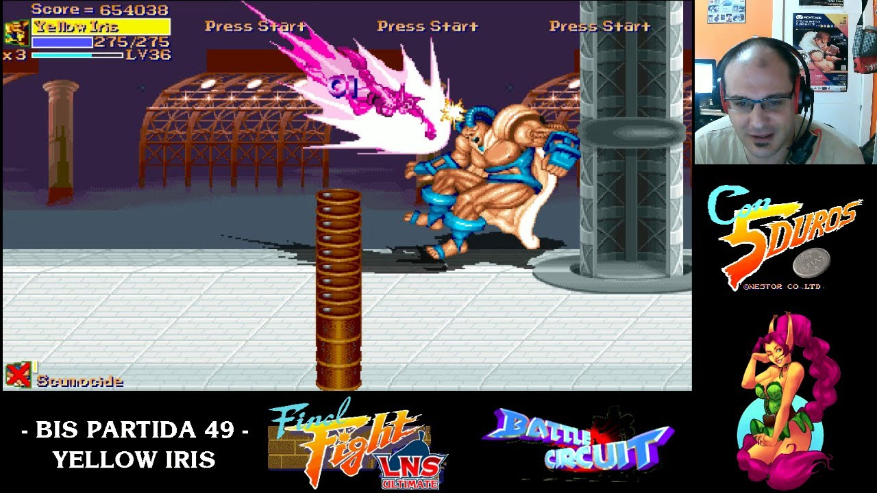FINAL FIGHT LNS ULTIMATE - CAPCOM ALL STARS - HARD/CRAP MODE - YELLOW IRIS (1cc) (CTR)