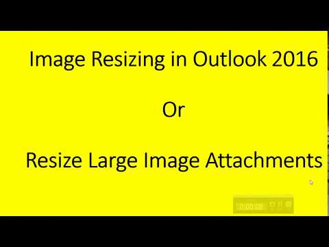 Resize Large Image Attachments while sending email in outlook | How To Resize Photo in outlook 2016