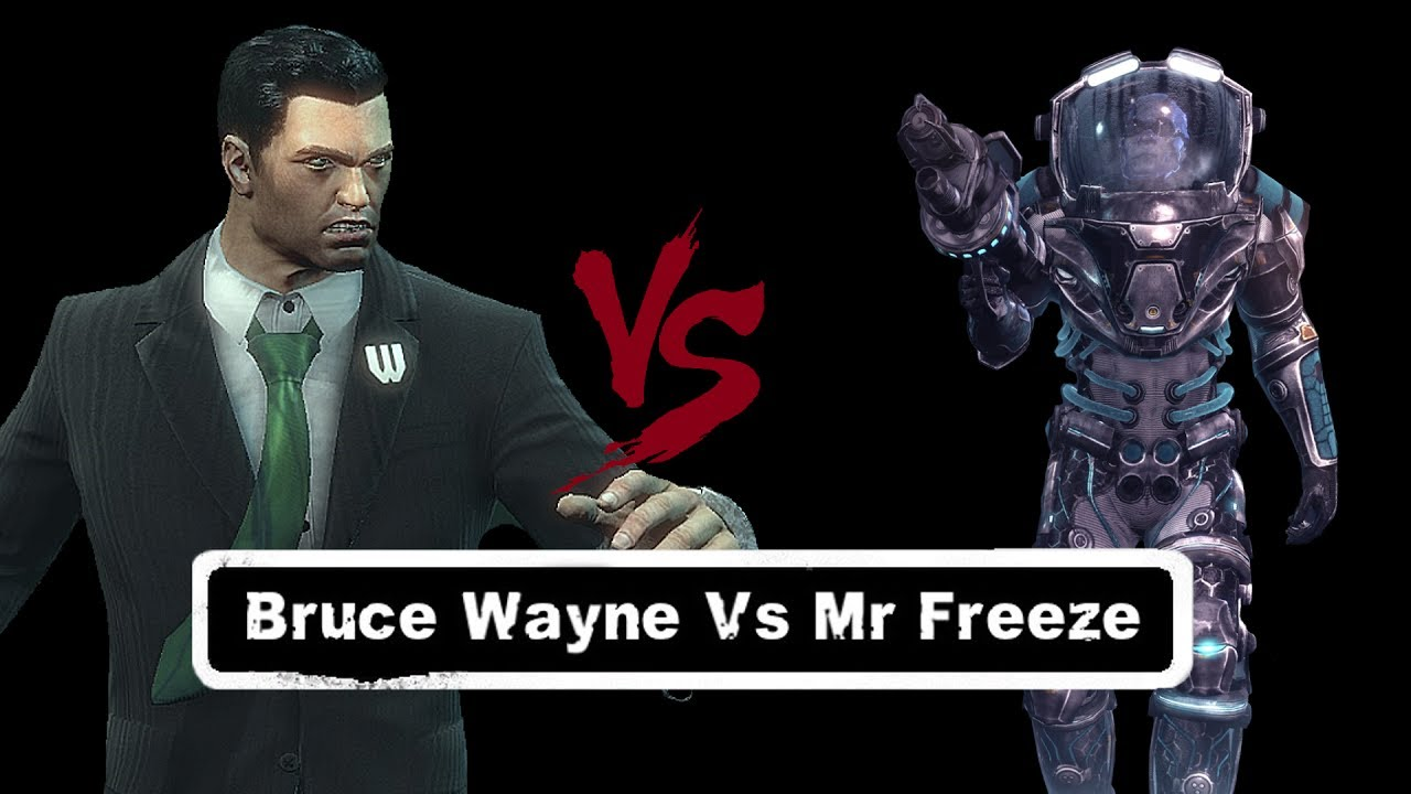CHAR SWAPS; Batman; Arkham City; Bruce Wayne Vs Mr Freeze ...