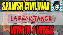Hearts of Iron IV WIN THE SPANISH CIVIL WAR IN 1 WEEK!  - La Resistance DLC