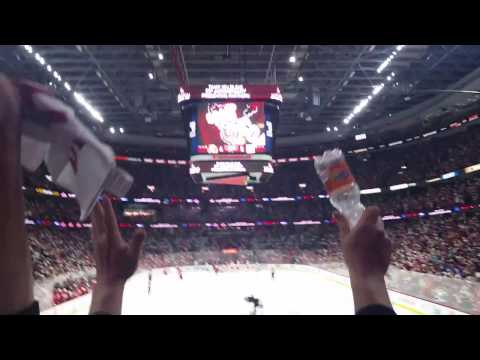 Pageau Hat Trick Goal vs Rangers (29/04/17) Crowd View