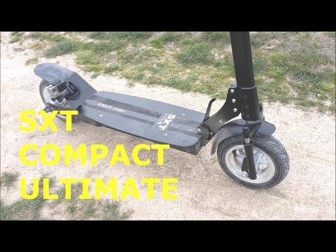 SXT Compact Ultimate E-Scooter Test im Gelände und auf Asphalt