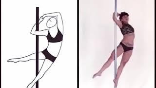 Уроки пол дэнс видео (средний уровень).Элемент Вортекс