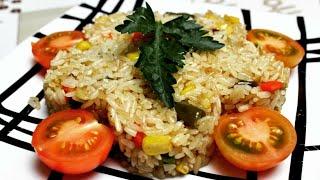 Рис с овощами | Рис на сковороде | Рис на гарнир