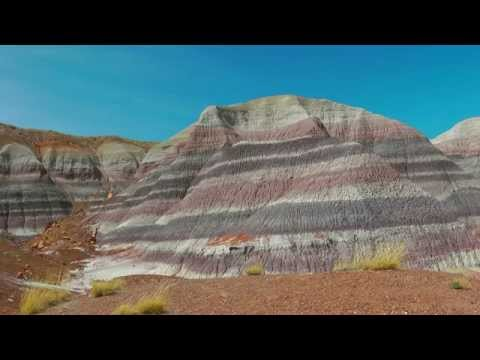 USA colourful petrified forest & painted desert (hd-video)