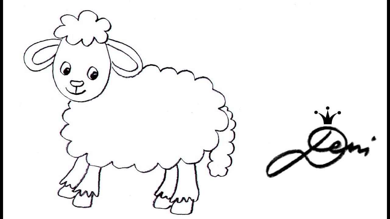 Schaf aus einer Wolke zeichnen ☁️ schnell 🐑 einfach 🐑 how to draw a sheep  for children 🐏 овца
