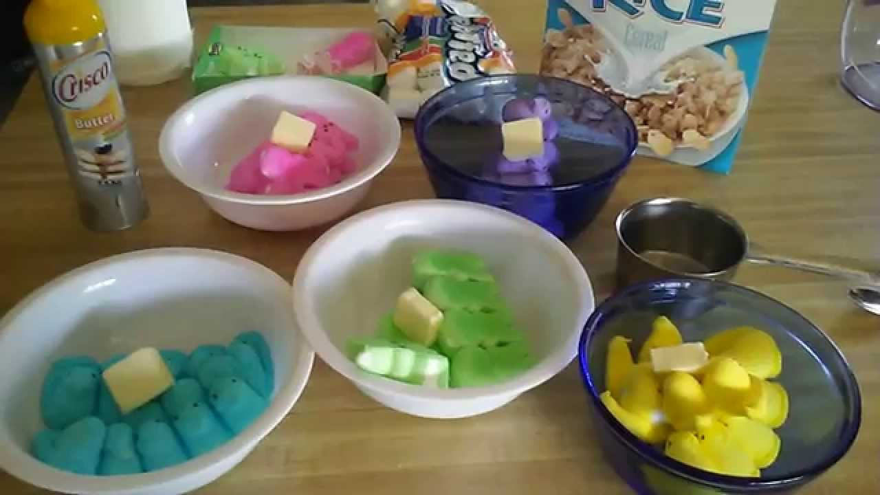 Rainbow Rice Krispy Treats - YouTube