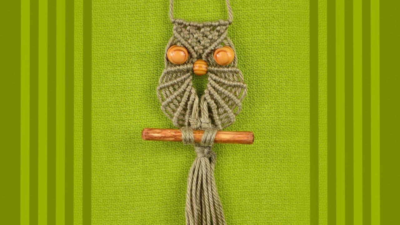 плетение макраме разные схемы сова