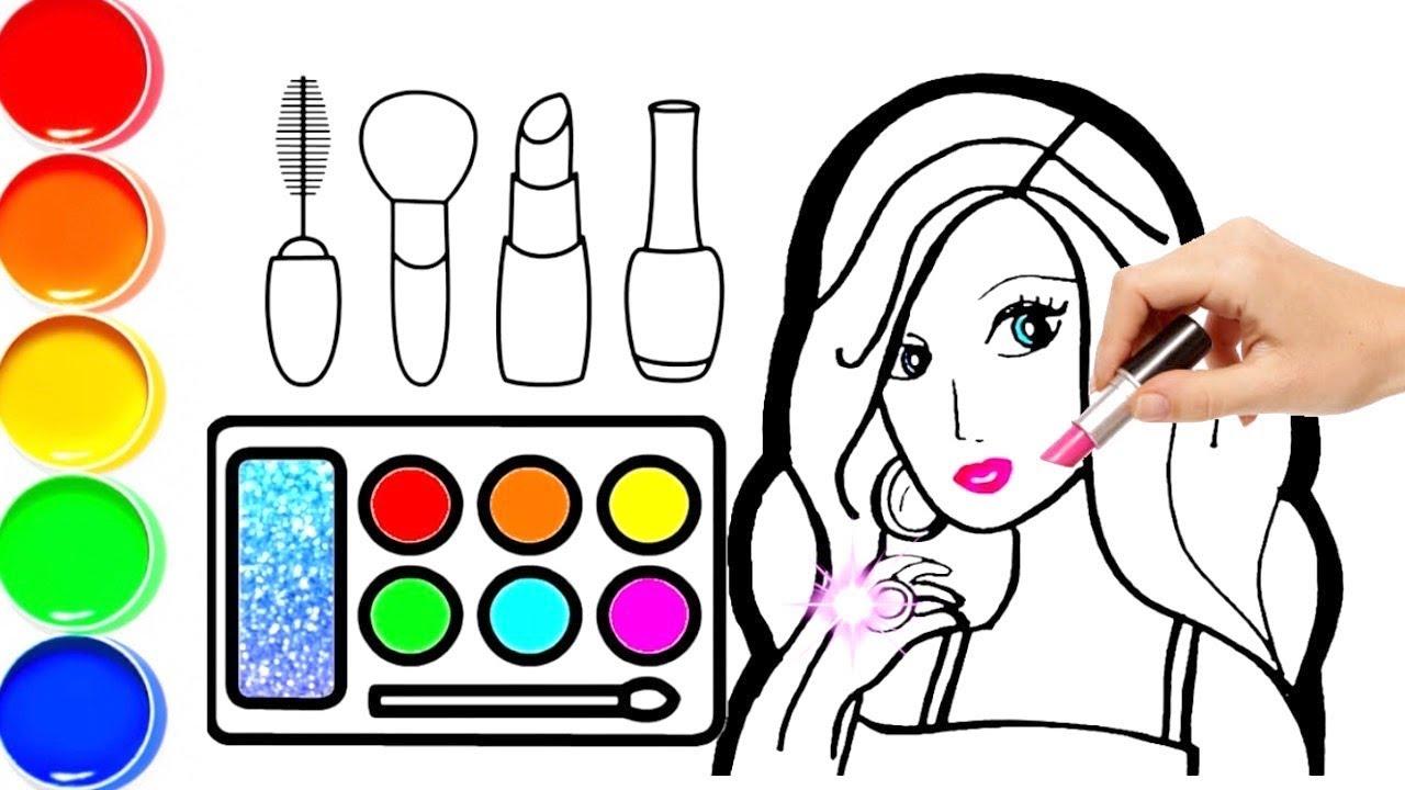 Barbie Makeup Coloring Pages Saubhaya Makeup