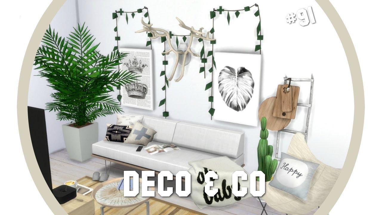 Les sims 4 deco co 91 studio scandinave cc for Deco appartement sims 4