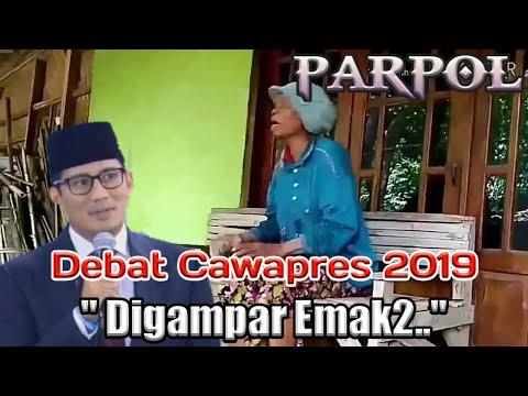 "HUMOR KAMPRET _ Parodi Debat Cawapres 2019 _ ""Digampar Emak2.."""