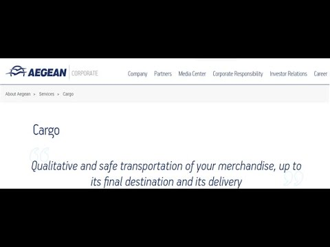 Aegean Airlines Cargo Tracking,Aegean Airlines Air Cargo Tracking Status