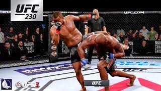 EA Sports UFC 3: Daniel Cormier vs Derrick Lewis (UFC 230 Championship fight simulation)