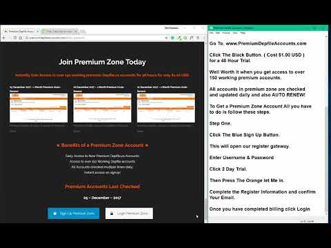 Depfile Premium Accounts Free December 2017