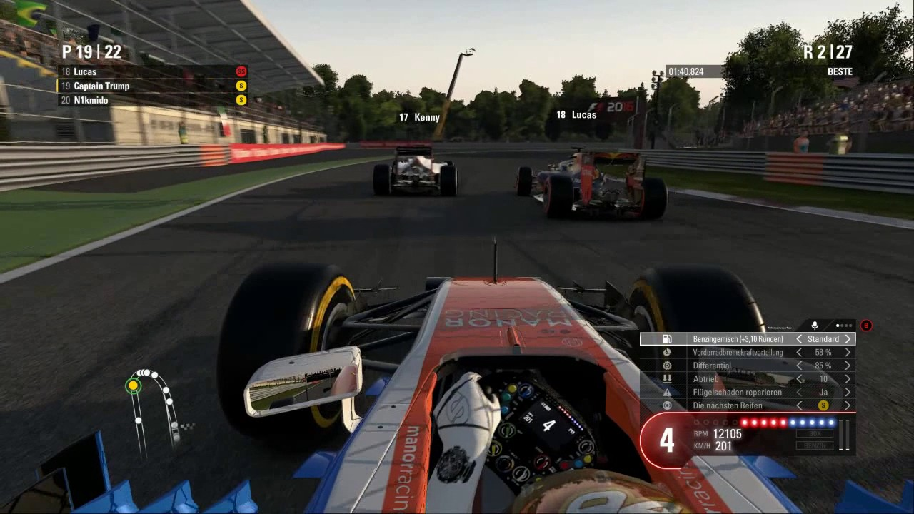 F1 Game.de Faillights (Monza 50%) - YouTube