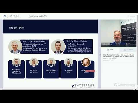 Sea Change for the EIS | Webinar by Martin Sherwood, Partner at Enterprise Investment Partners