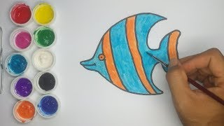How to Draw and Coloring Striped Fish