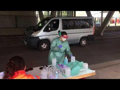 Empiezan las pruebas rápidas del covid-19 para sanitarios, seguridad y voluntarios en Burgos