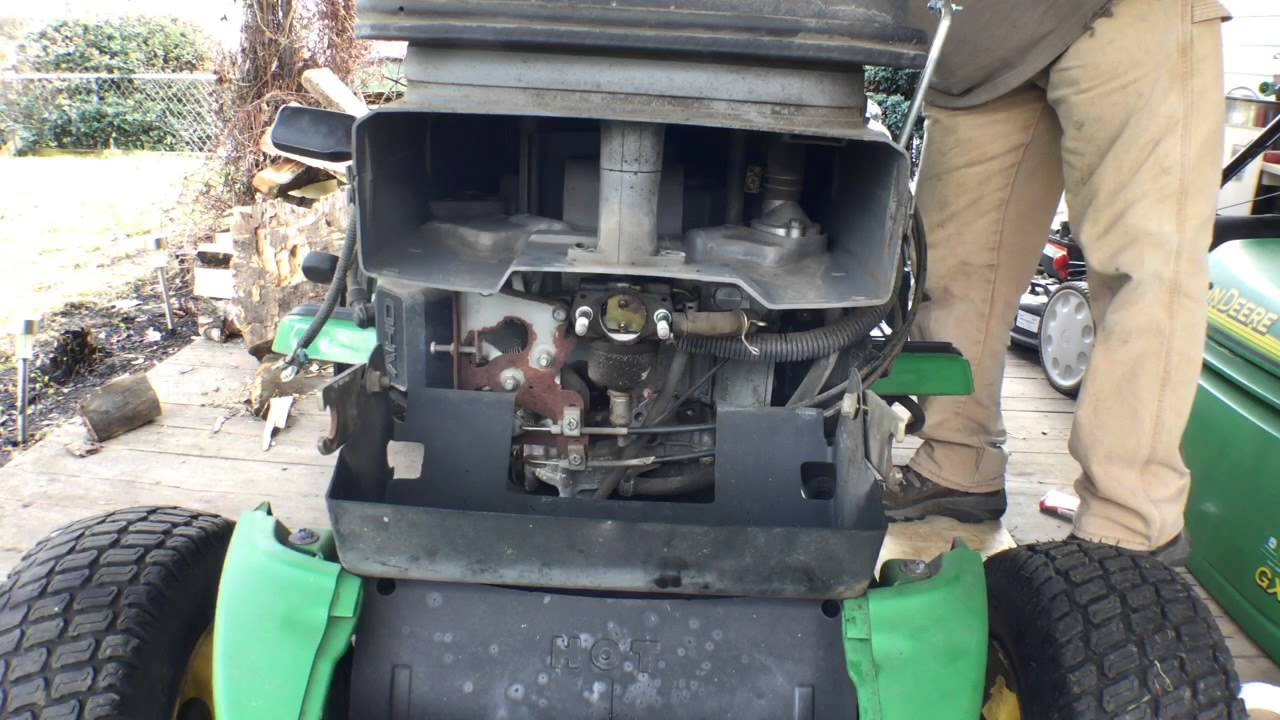 John Deere 345 engine surging fix  YouTube