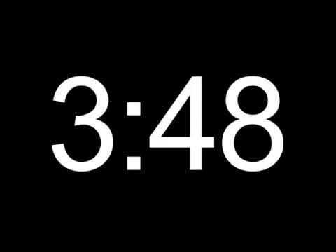 5 minute HD COUNTDOWN TIMER  - no sound