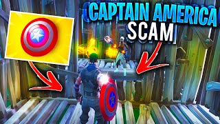 *NEW SCAM* The CAPTAIN AMERICA Scam! (Scammer Gets Scammed) In Fortnite Save The World Pve