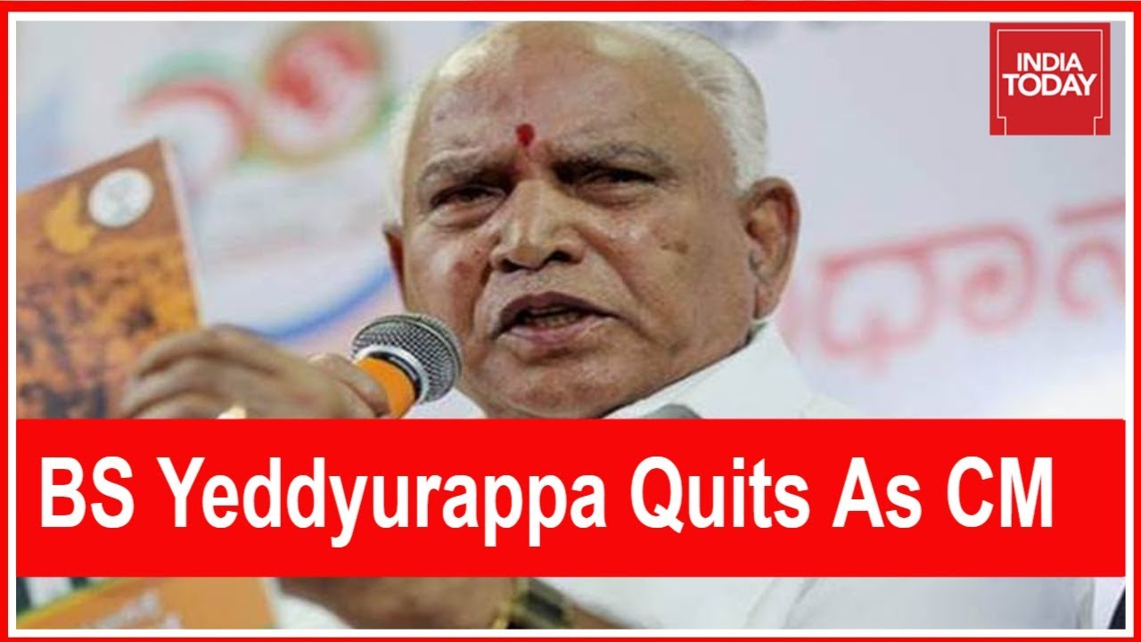 BS Yeddyurappa Quits As Chief Minister, Says He Failed To Get The Numbers