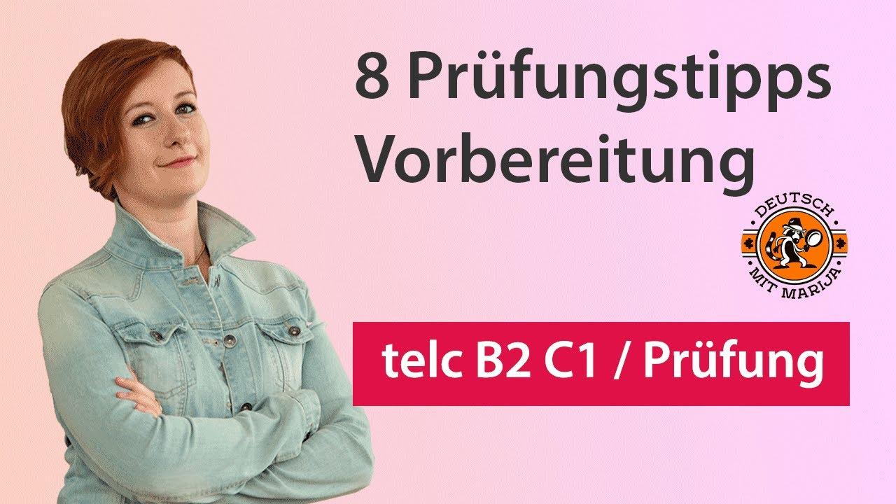 8 Prüfungstipps Vorbereitung Telc B2 C1 Deutsch Mit Marija