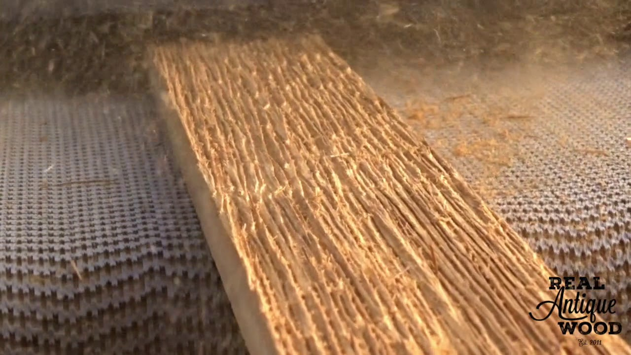 e0edb1c22d7 Real Antique Wood Using Brush Sander with Steel Wire Brush on Douglas Fir  Creating Grain Texture