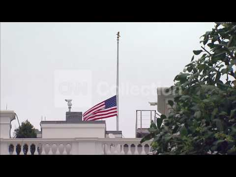 DC:WHITE HOUSE FLAGS HALF STAFF- TERROR ATTACKS