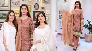celebrities with relatives amazing show by nida yasir good morning pakistan today 15 august 2018