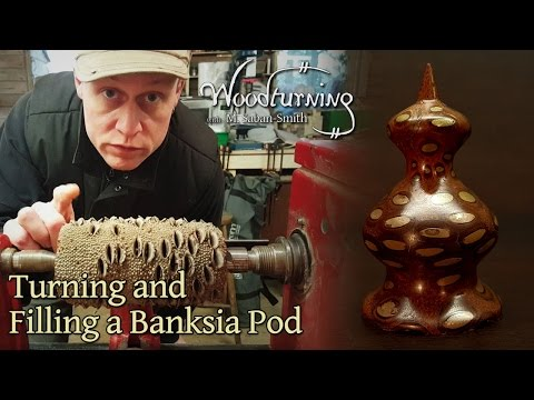 #44 Woodturning a Banksia Pod Nut with Bronze Infill - Trypophobia?