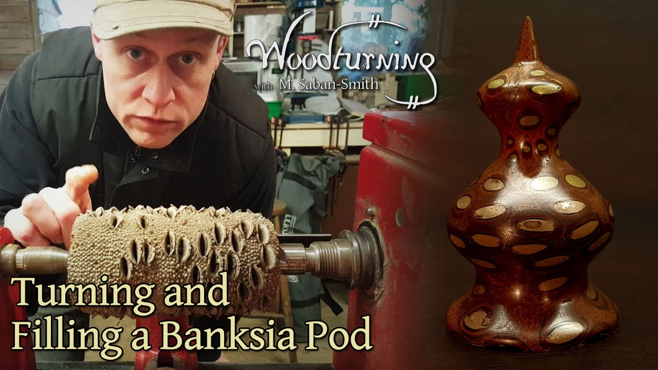 44 Woodturning A Banksia Pod Nut With Bronze Infill