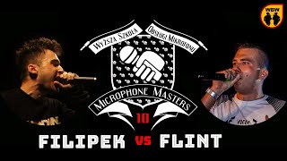 FILIPEK vs FLINT @ Microphone Masters 10 @ freestyle battle