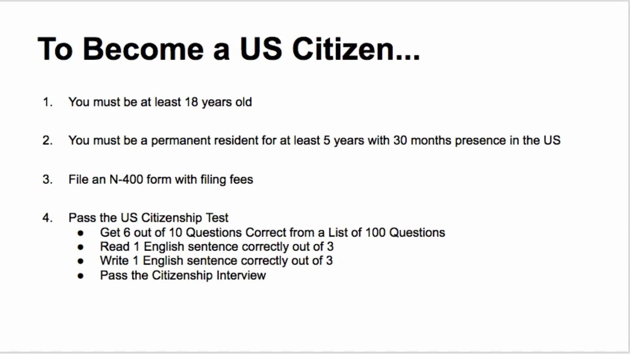 US Citizenship Class Lecture 1 - YouTube