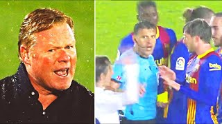 КУМАН НАПАЛ НА СУДЬЮ матча Реал Барселона У тренера Барселоны бомбануло после Эль Класико