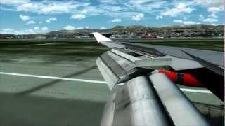 FSX Movie PMDG Boeing 747 400 Landing at Aerosoft Nice