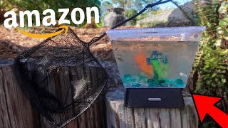 BUYING AMAZONS smallest FISH TANK!!!