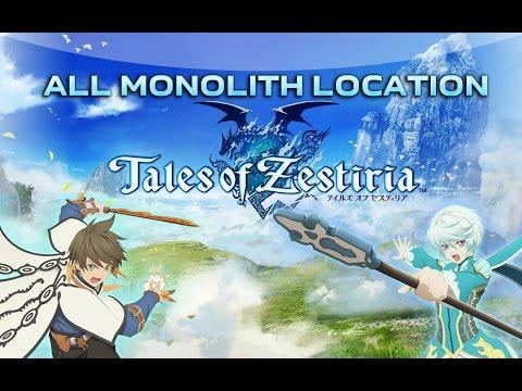 Tales Of Zestiria - All Monolith Location / Расположение всех монолитов