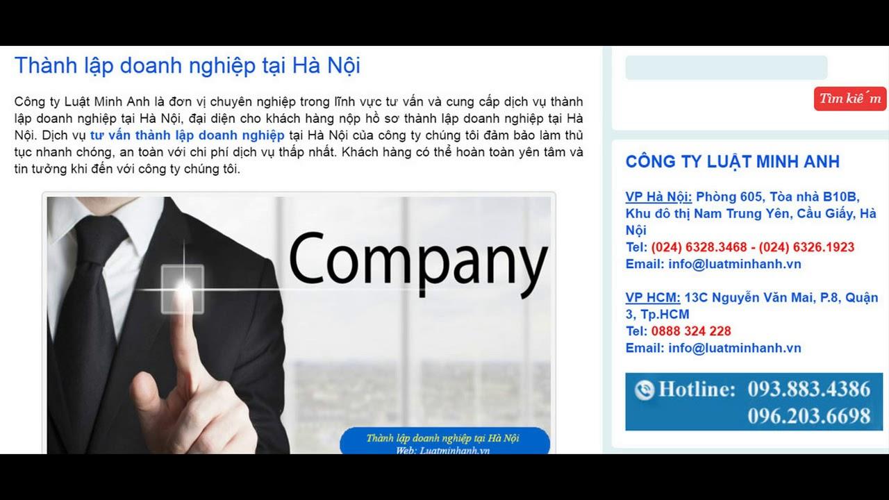 Thành lập doanh nghiệp uy tín, giá rẻ tại Hà Nội