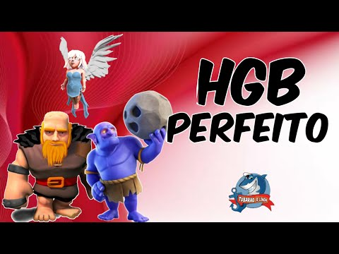 HGB ATAQUE MORTAL - ESTRATÉGIA DA MODA CV9 - Clash of Clans Supercell