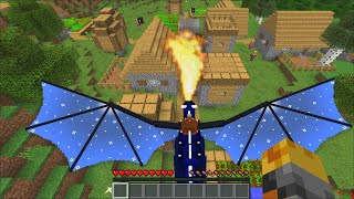 Minecraft DESTROYING VILLAGERS WITH OUR NEW DRAGONS MOD / HOW TO TRAIN YOUR DRAGON !! Minecraft Mods