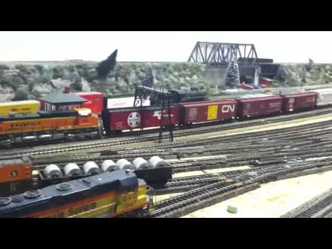 Nice HO Model Train Action