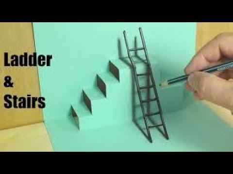 Đỉnh Cao Của Nghệ Thuật Vẽ Tranh 3D Quá Đẳng Cấp   Vẽ Cầu Thang và Lan Can Quá Đỉnh