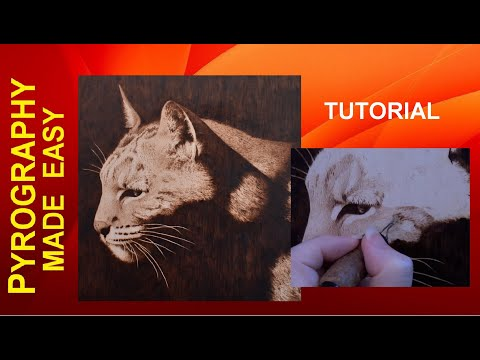 Bobcat Pyrography Tutorial - Techniques For Creating Realistic Fur In Wood Burning